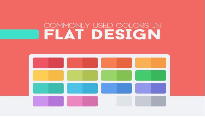 Màu sắc trong thiết kế phẳng.