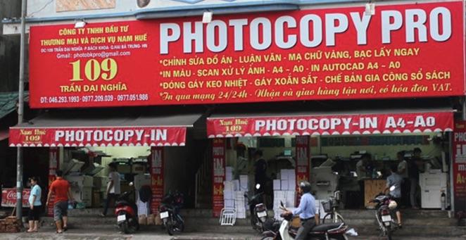 Làm bảng hiệu tiệm photocopy