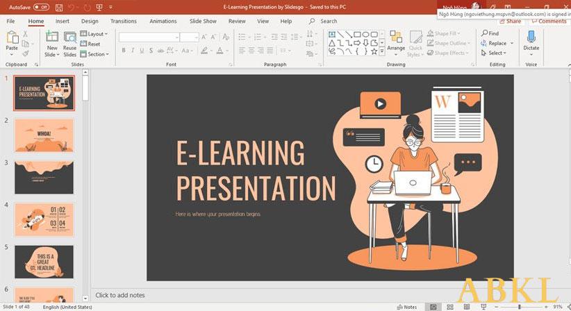 Thao tác trên slide của Powerpoint